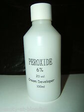 HAIR PEROXIDE COLOUR DEVELOPER 6% 20 VOLUME 100ml WITH FREE WORLDWIDE POSTAGE