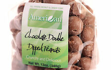 12oz Gourmet Style Bag of Deep Double Dipped Milk Chocolate Peanuts [3/4 lb.]