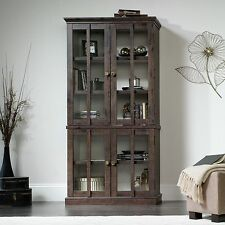 Tall Display Cabinet - Coffee Oak - New Grange Collection (419065)