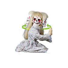 Kneeling Geist Girl Animated Halloween Animatronic Decoration Prop Lifesize