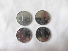 Set of 4 PRC China Coins 1 Yi Jiao Circulated