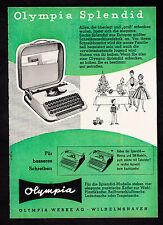 3w2216/ Alte Reklame von 1960 - OLYMPIA Schreibmaschinen - Wilhelmshaven