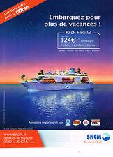 PUBLICITE ADVERTISING 015  2009  SNCM   embarquement pour la CORSE