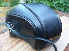 Black NIKON NIKKORMAT LEATHER CAMERA case - Rare - Solid - Made In Japan - NICE!