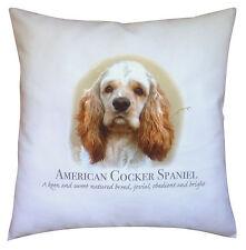 American Cocker Spaniel Dog | 100% Cotton Cushion Cover Zip | Howard Robinson