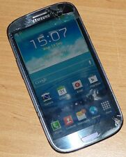 SAMSUNG GALAXY S3 I9300 MOBILE PHONE (UNLOCKED) GLASS DAMAGED