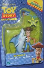 """Disney Toy Story And Beyond 5"""" Woody w Squirtin' Sharkey New Factory Sealed 2002"""