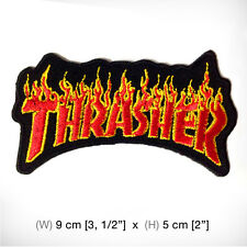 New THRASHER Embroidered Patch Iron on, sew, Decorate Skateboard Sprots Extreme