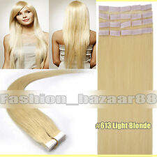 "Promotion Tape In 100% Real Human Hair Extensions Light Blonde 16"" 20Pcs 30g/set"