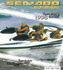 Sea-Doo Owners Manual Book 1998 Challenger 1800 / Sportster 1800