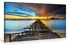 Stretched Canvas Print - PIER TO PARADISE Large Sunset Landscape Wall Art e6373