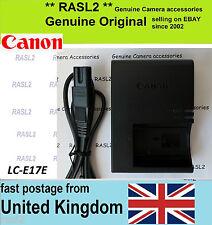 Original CANON Charger LC-E17E LP-E17 EOS- M3 750D 760D 8000D Rebel T6s kiss 8i