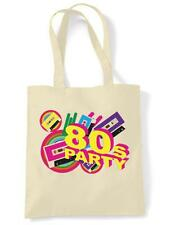 80S PARTY TOTE / SHOULDER BAG - Eighties, 1980s Fancy Dress, Shopping Bag