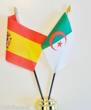 Spain & Algeria Double Friendship Table Flag Set