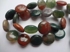 """12mm Colorful Indian Agate Coin Semi Precious Gemstone Beads - 15"""" Strand"""