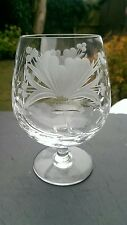 "Royal BRIERLEY - HONEYSUCKLE Cut - Brandy Glass / Glasses - 4 7/8"" unsigned."