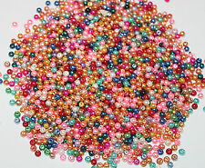 500PCS Wholesale Beads Bulk Beads Glass Mix Color Pearls Beads 4mm Assorted#
