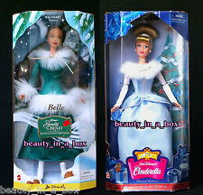 Holiday Disney Doll Cinderella Enchanted Christmas Skating Belle Winter Lot 2