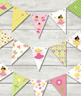FAIRIES BUNTING - CHILDREN'S BIRTHDAY PARTY PLAY ROOM BEDROOM 18 FLAGS! FAIRY