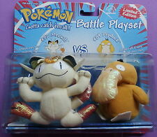 POKEMON #52 Meowth Vs.#54 Psyduck Battle Playset Applause 1999 NEW in package