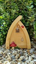 Hand Made  Fairy door Hobbit/Elf Doors for garden light wood bird cage