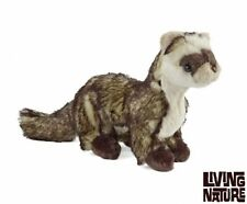 Living Nature Realistic Brown Ferret Plush Soft Toy 35cm AN241