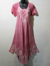 Dress Fits 1X 2X 3X Plus Tie Dye Sundress Pink Lace Sleeves A Shaped NWT 6601