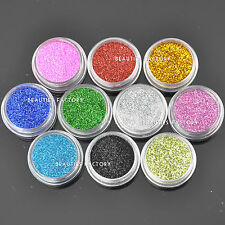 Nail Art 10 Colors Glitter Powder Dust Tips Decoration Set Acrylic Manicure #10