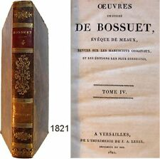 Oeuvres choisies de Bossuet T.4 Lebel 1821 Opuscules