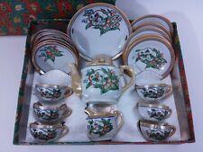Little Hostess Luster Ware Childs Toy Tea Set in Original Box Made Japan