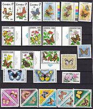 T18143 motivo-lot postfr./mnh mariposas Butterflies michel valor de 100 €