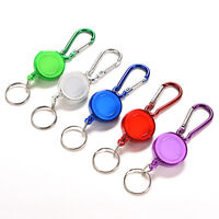 2X  Retractable Strap Carabiner Clip Card label Key Chain Fancy Gift TK