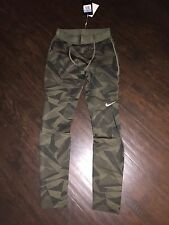 Mens Nike Leggings Running Army Camo Green Golf Tight Compression $60