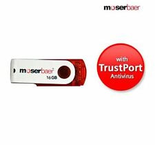 New Moserbaer Swivel 16GB Pen Drive With Free TrustPort Antivirus @ Best Price.!