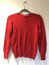 M&S Red Cashmere Jumper Size 8/10