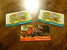 Disney Gift Cards - 3 total - Disneyland/Train - no monetary value - New