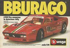 X1237 Ferrari GTO Rally (1934) - BBURAGO - Pubblicità 1987 - Advertising