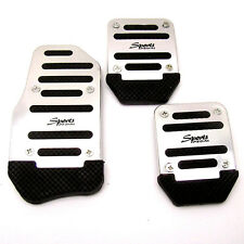 3 Pcs Aluminium Alloy Racing Sports Manual Automobiles Non-Slip Foot Pedals