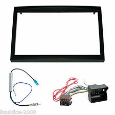 PEUGEOT 307 2001 - 2006 BLACK DOUBLE DIN FASCIA FACIA FITTING PACKAGE KIT