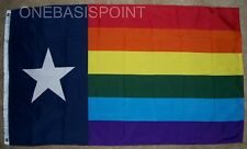 3'x5' Texas Rainbow Flag Outdoor Indoor Banner Gay Pride GLBT USA Novelty 3X5