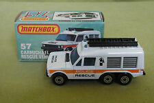 Modellauto - Matchbox 75 - Carmichael Rescue Vehicle 57 - Lesney - in OVP