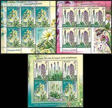 BELARUS 2011 FLORA / Flowers. Protected Plants. 3 Sheets. 80% Face Value, MNH