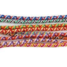 9pcs Lot Braid Strands Friendship Cords Handmade Hippie Boho Cuff Bracelets