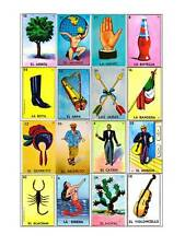 Loteria Mexicana 25 Tablas Digital Para Imprimir (Printable)