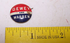 Vintage GREEN DUCK CO CHICAGO Political Pinback Button Pin DEWEY & WARREN