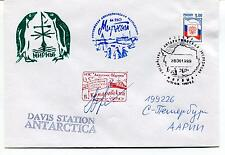 URSS CCCP Exploration Mission Davis Station Ship Polar Antarctic Cover / SIGNED