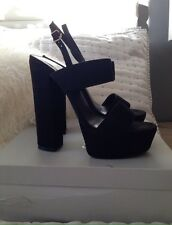 CARVELA By Kurt Geiger Black Block Heels Size 39 UK 6