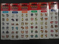 72 Pokemon Sticker Set Flareon Eevee slowpoke snorlax jigglypuff Shellder gloom