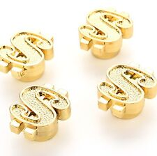 Dollar $ Bling Gold Money Wheel Tyre Valve Dust Caps x4 JDM VIP DUB VW BMX BIKE