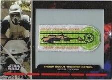 STAR WARS GALACTIC FILES PR-30 EMBROIDERED PATCH ENDOR SCOUT TROOPER PATROL